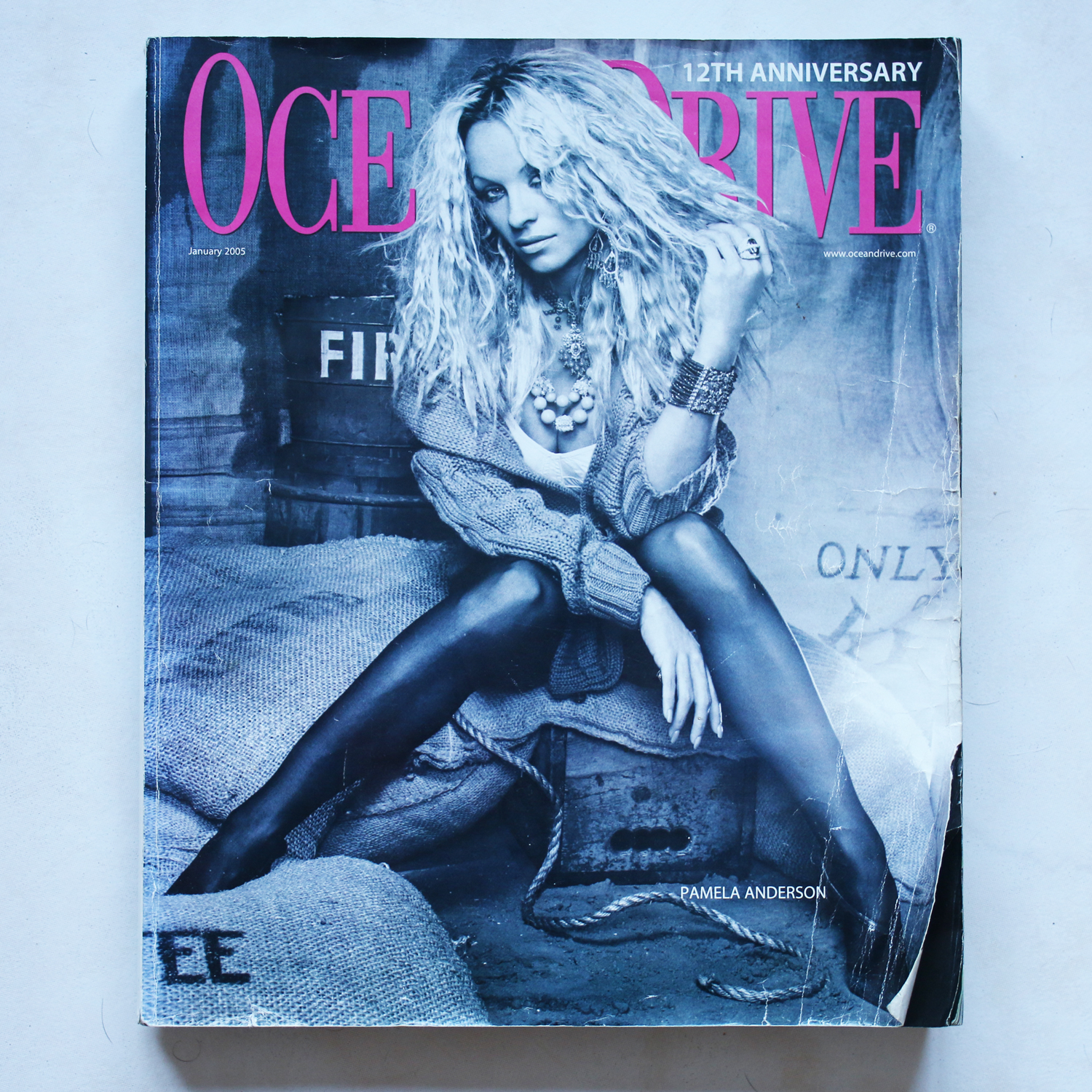 Ocean Drive Magazine 12 Year Anniversary Edition - Includes Graffiti Tattoo Artist Tattooing Dennis Rodman