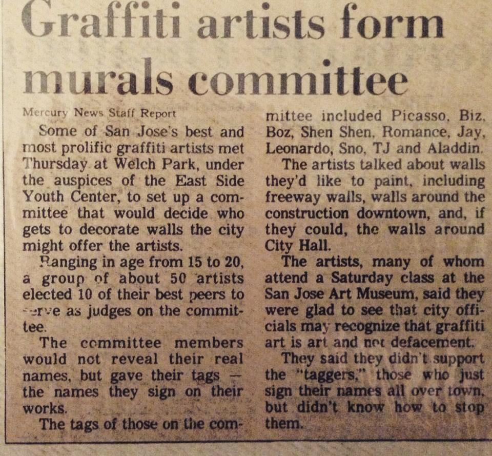 Graffiti Artist's for mural committee, includes graffiti artist Aladdin